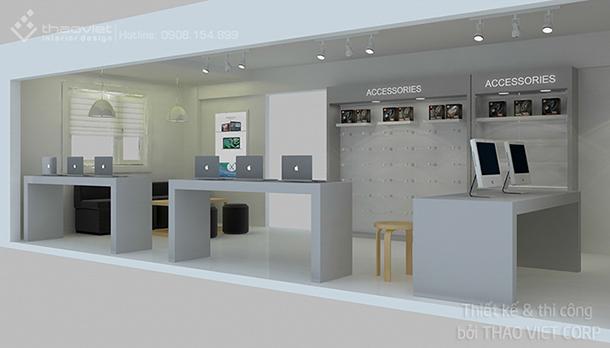 thiết kế thi cong nội thất shop ZShop 6