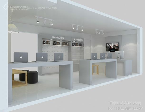 thiết kế thi cong nội thất shop ZShop 7
