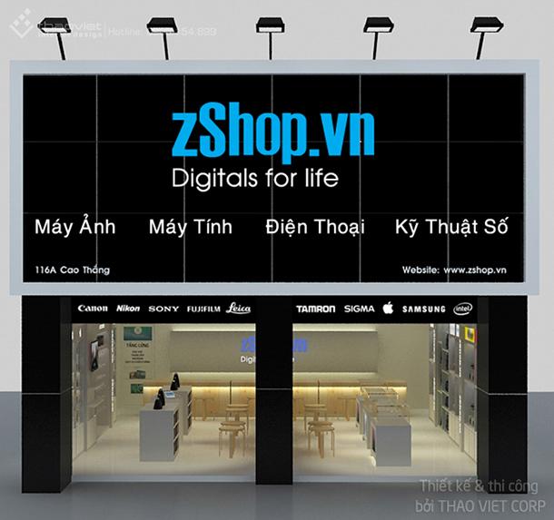 thiết kế thi cong nội thất shop ZShop