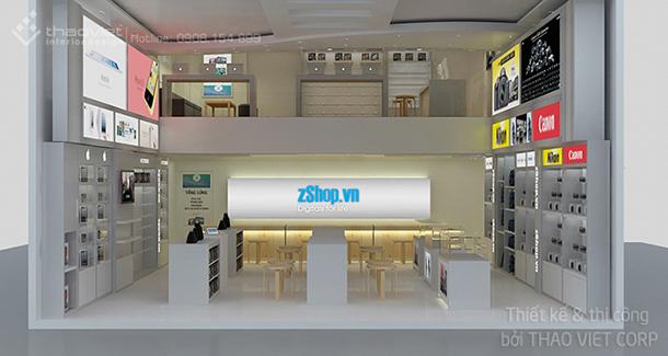 thiết kế thi cong nội thất shop ZShop 1