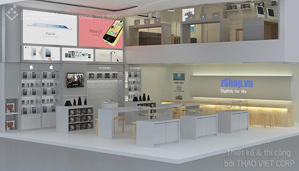 thiết kế thi cong nội thất shop ZShop 3