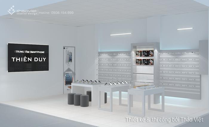 thiết kế shop điện thoại Thiên Duy