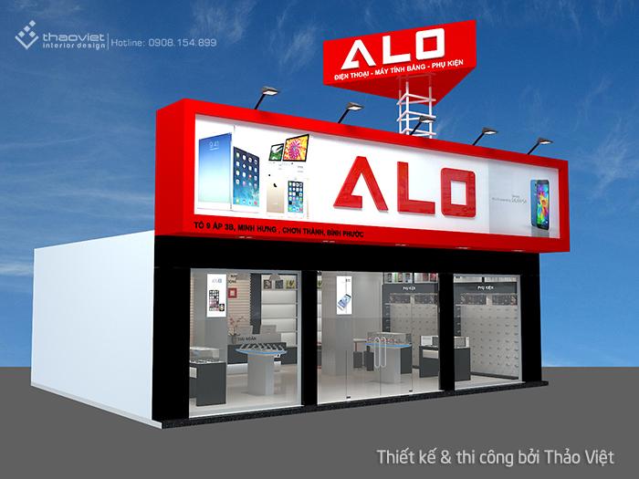 thiết kế shop điện thoại Alo 1