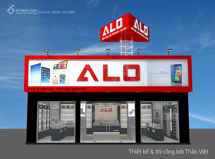 thiết kế shop điện thoại Alo