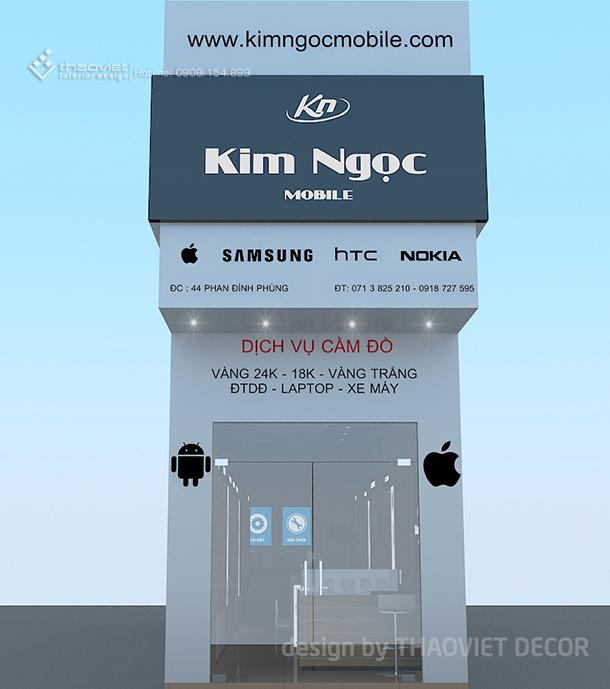 thiết ke shop điện thoại Kim Ngọc 1